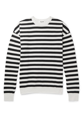 Oversized Striped Cotton Sweater