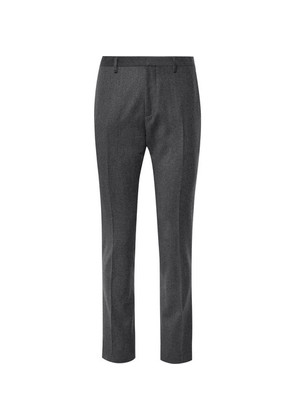 Grey Slim-fit Wool And Cashmere-blend Suit Trousers