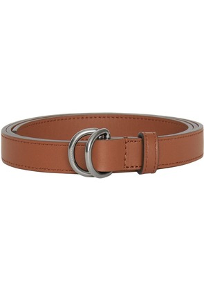 Burberry Slim Leather Double D-ring Belt - Brown
