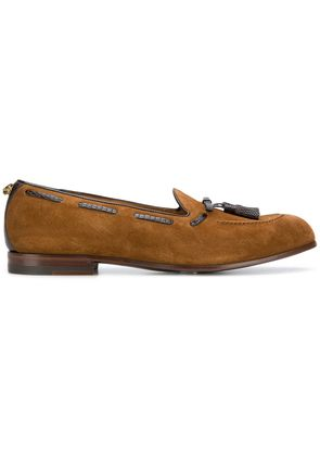 Gucci tassel-embellished loafers - Brown