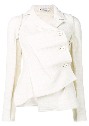 Jil Sander off-centre tweed jacket - White