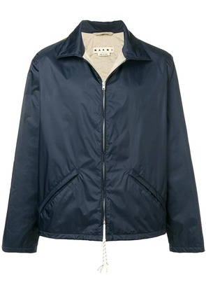 Marni lightweight contrasting back jacket - Blue