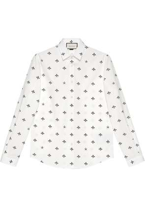 Gucci Bee star cotton Duke shirt - White