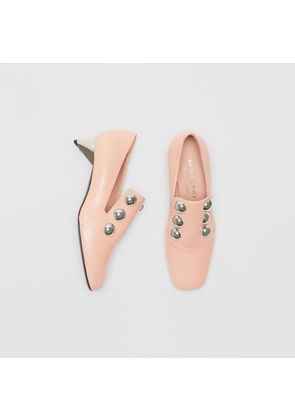 Burberry Stud Detail Patent Leather Pumps, Pink