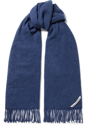 Acne Studios - Canada Narrow Fringed Wool Scarf - Blue