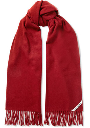Acne Studios - Canada Narrow Fringed Wool Scarf - Red