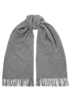 Acne Studios - Canada Fringed Wool Scarf - Gray