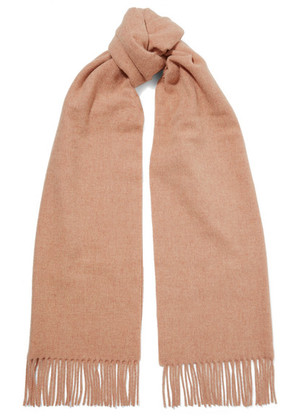 Acne Studios - Canada Narrow Fringed Wool Scarf - Pink