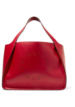 Stella McCartney - Perforated Faux Leather Tote - Red