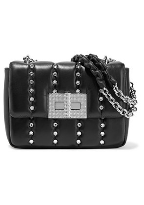 TOM FORD - Natalia Small Crystal-embellished Quilted Leather Shoulder Bag - Black