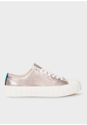 Women's Metallic Leather 'Thea' Trainers with 'Rabbit' Detail Midsoles