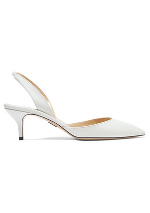 Paul Andrew - Rhea Leather Slingback Pumps - White