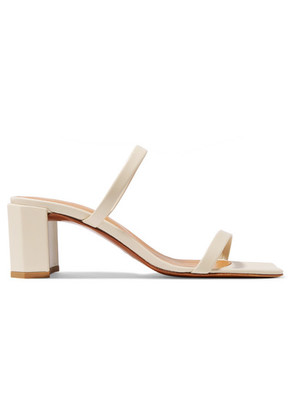 BY FAR - Tanya Leather Sandals - White