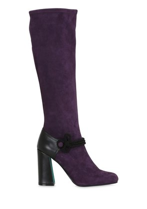 100MM SUEDE STRETCH OVER THE KNEE BOOTS