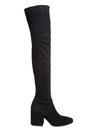 70MM STRETCH FAUX SUEDE BOOTS