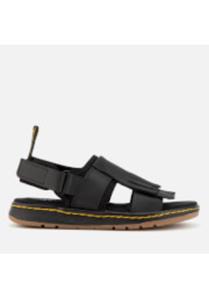 Dr. Martens Women's Rosalind Leather Kiltie Fringe Sandals - Black - UK 8 - Black