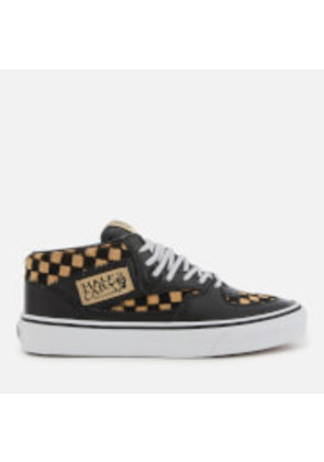 Vans Men's Half Cab Pony Hair Trainers - Checkerboard/True White - UK 3 - Tan