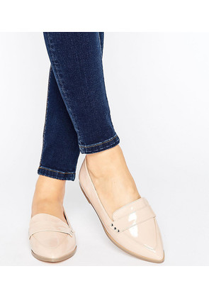 ASOS MARIKA Wide Fit Flat Shoes - Nude