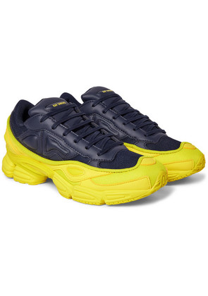 reputable site 0a719 7461b Raf Simons - + Adidas Originals Ozweego Mesh And Leather Sneakers -  Midnight blue