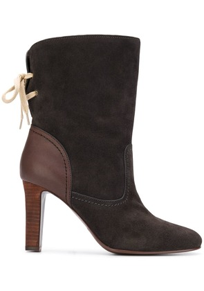 See By Chloé lace back ankle boots - Grey