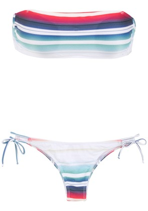 Brigitte striped strapless bikini set - Multicolour