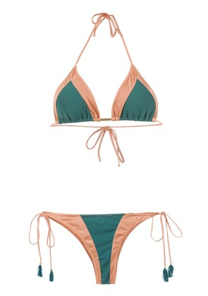 Brigitte panelled bikini set - Green