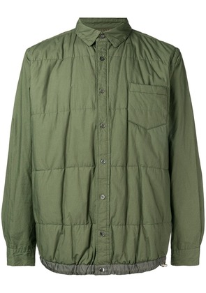 Sacai long-sleeve fitted bomber jacket - Green
