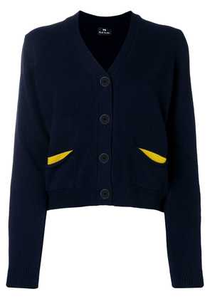 Ps By Paul Smith flap pocket cardigan - Blue