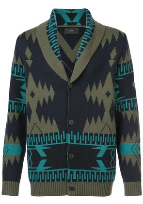 Alanui patterned cashmere cardigan - Green