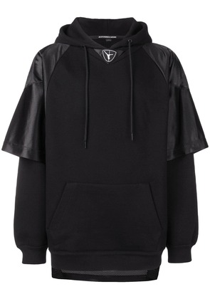 Alexander Wang Football hooded sweatshirt - Black