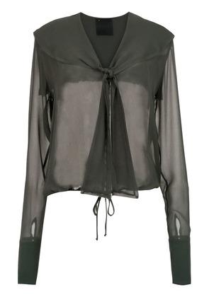Andrea Bogosian sheer silk shirt - Green