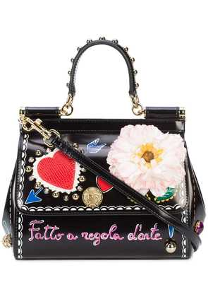 Dolce & Gabbana Sicily Love You shoulder bag - Black