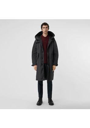 Burberry Quilt-lined Technical Nylon Parka, Black