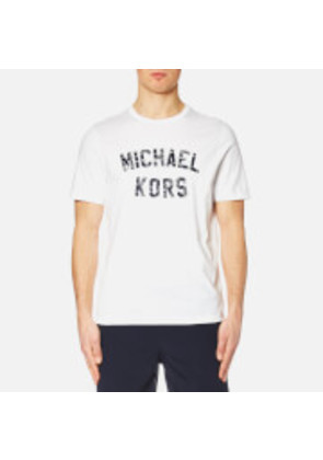 Michael Kors Men's Varsity Text Graphic Michael Kors Logo T-Shirt - White - XL - White