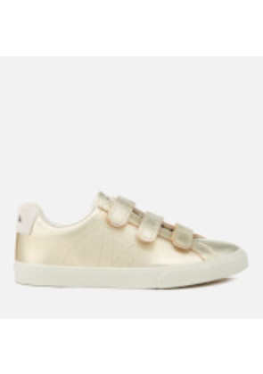 Veja Women's 3 Lock Leather Trainers - Gold - UK 4/EU 37 - Gold