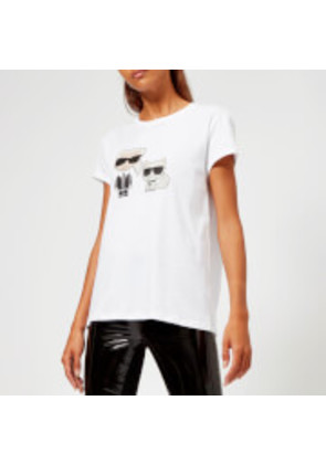 Karl Lagerfeld Women's Karl and Choupette T-Shirt - White - L - White