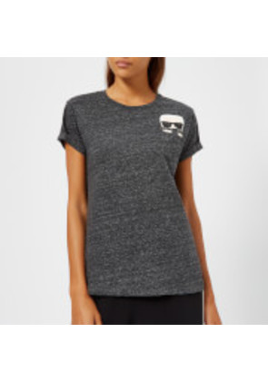 Karl Lagerfeld Women's Ikonik Karl Pocket T-Shirt - Charcoal - S - Grey