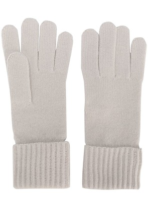 N.Peal ribbed gloves - Nude & Neutrals