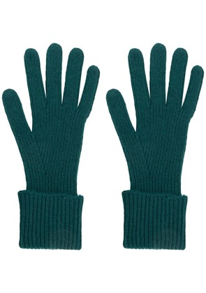 N.Peal ribbed knit gloves - Green