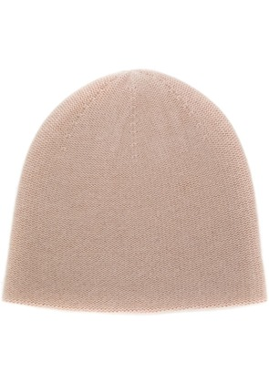 N.Peal knitted beanie hat - Nude & Neutrals