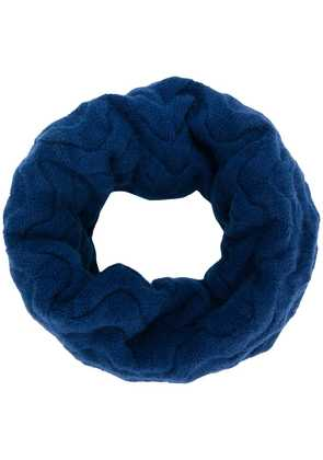 N.Peal cable knit snood - Blue