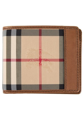 Burberry 'Horseferry Check' ID wallet - Nude & Neutrals