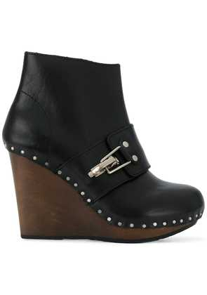 See By Chloé studded wedge boots - Black