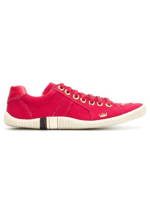 Osklen low top lace-up sneakers - Red