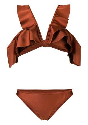 Zimmermann Tali Flutter bikini set - Brown