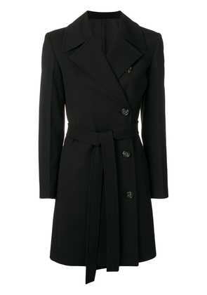 Helmut Lang double breasted trench - Black