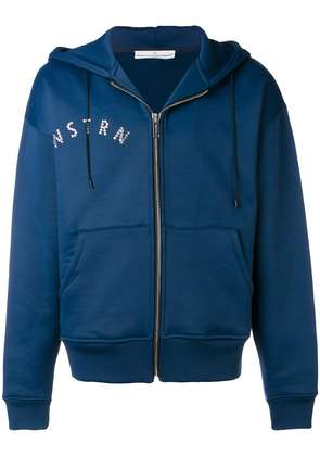 Golden Goose Deluxe Brand gemstone detailed zipped hoodie - Blue