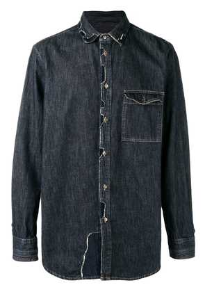 Diesel Black Gold patchwork denim shirt - Blue