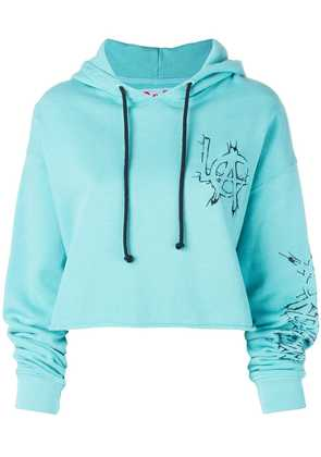 Adaptation LA cropped hoodie - Blue