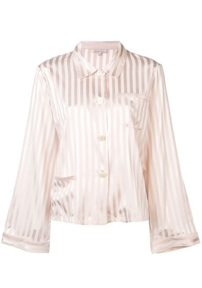 Morgan Lane striped pyjama top - Pink & Purple